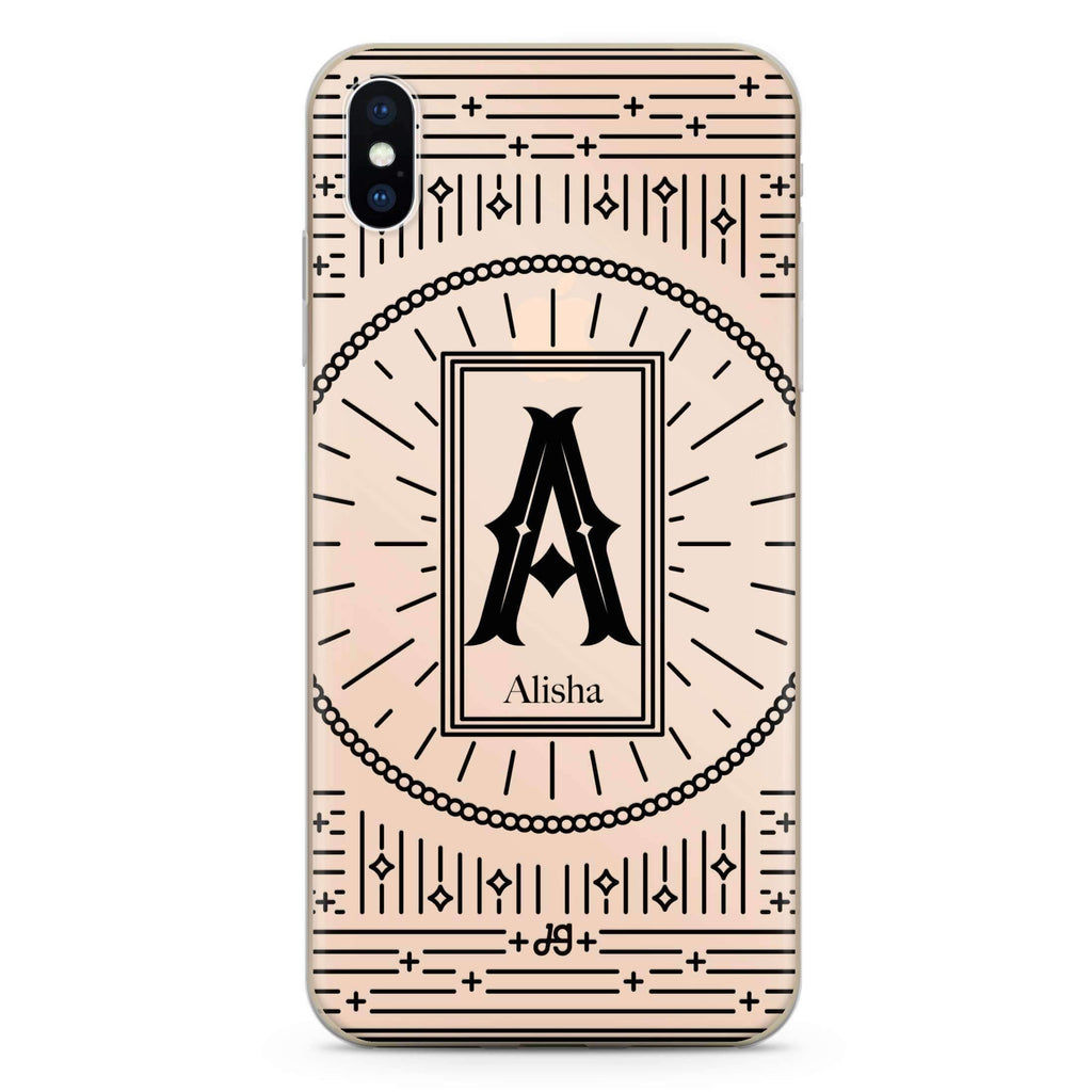 Artistic Monogram II iPhone XS 透明軟保護殻