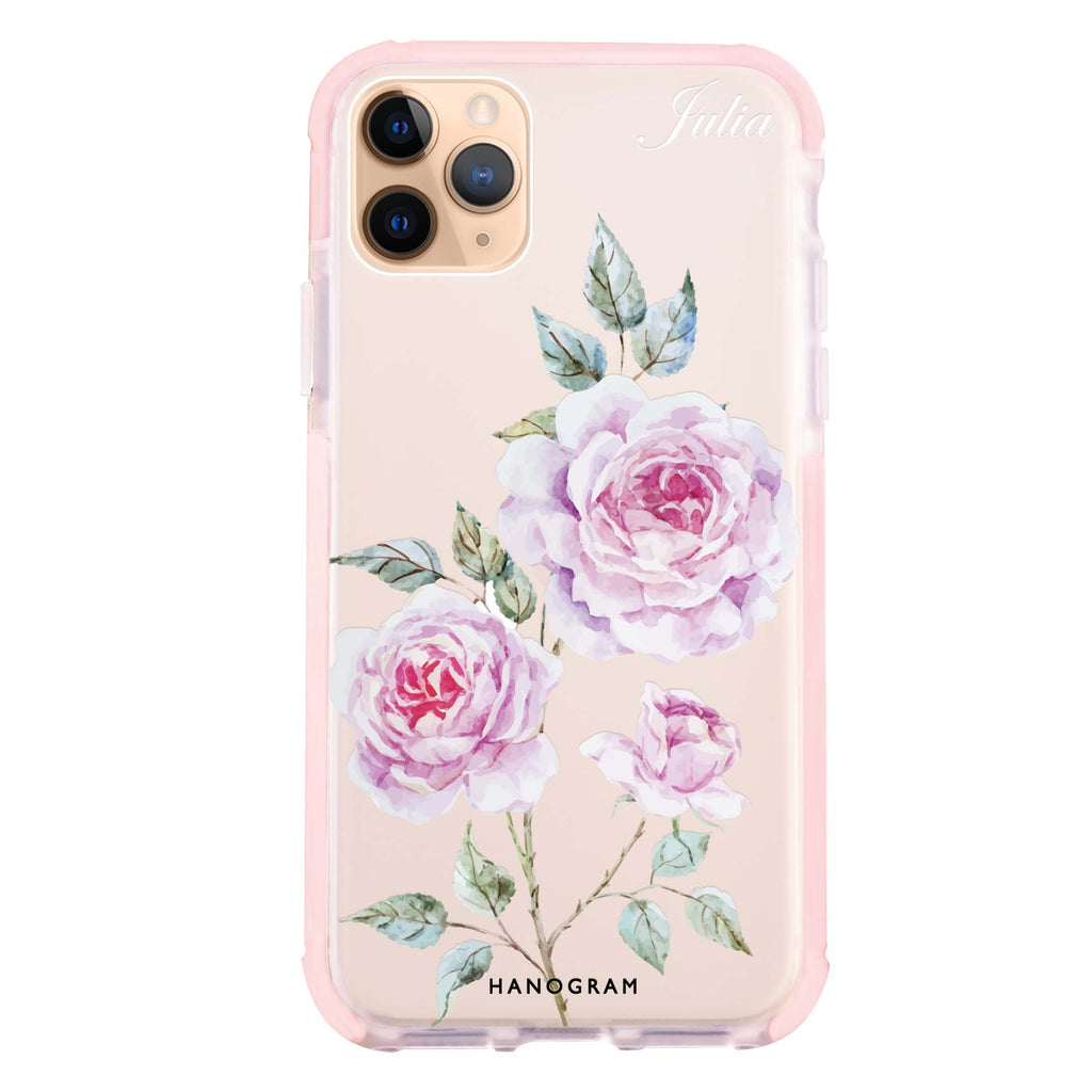 Simple Floral iPhone 11 Pro Max 吸震防摔保護殼