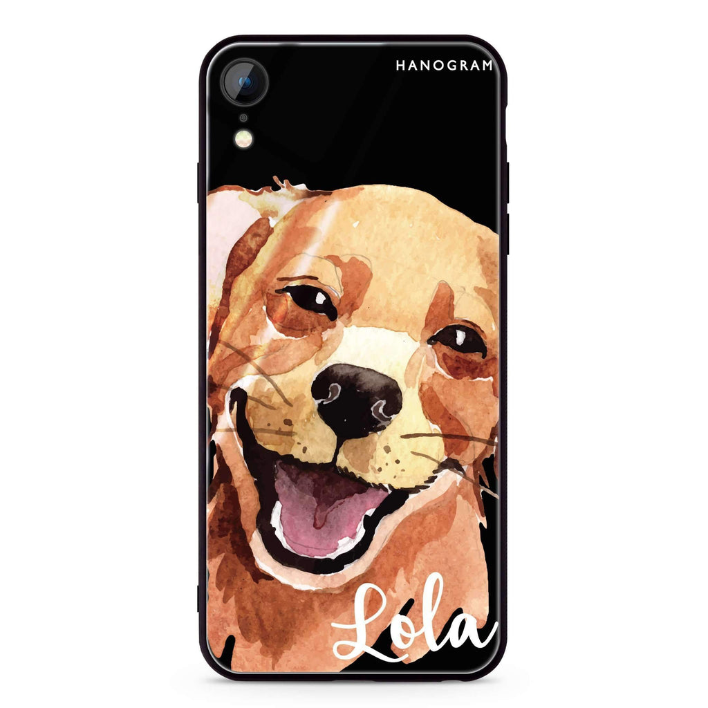 Golden Retriever iPhone XR 超薄強化玻璃殻
