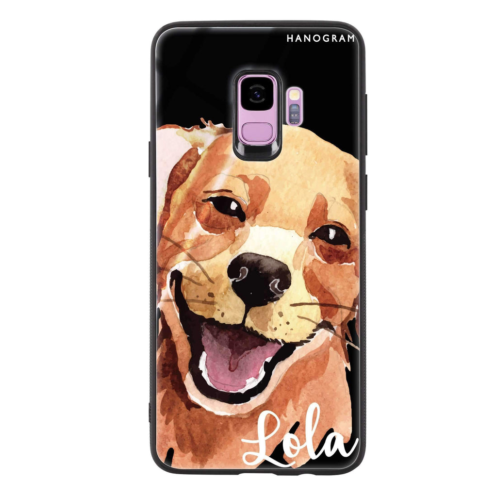 Golden Retriever Samsung S9 超薄強化玻璃殻