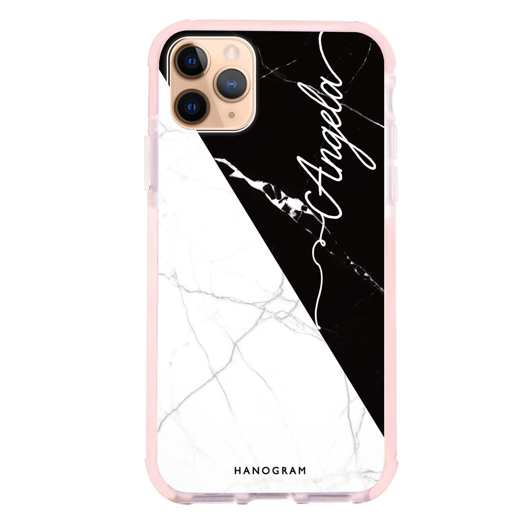 Black And White Marble iPhone 11 Pro 吸震防摔保護殼