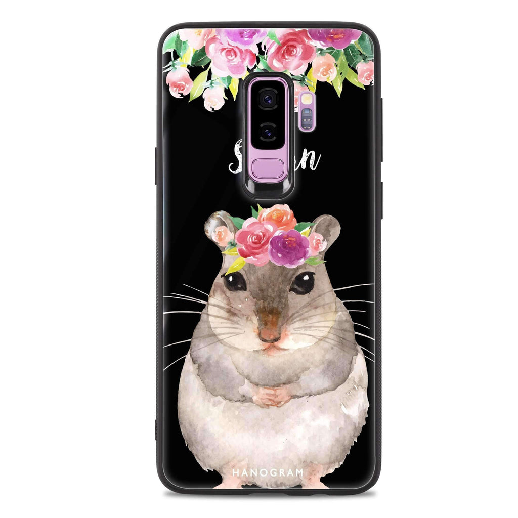 Floral and Hamster Samsung S9 Plus 超薄強化玻璃殻