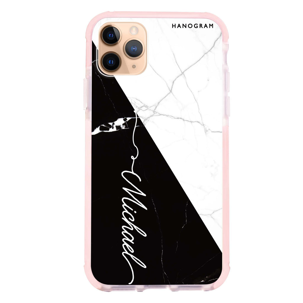 White And Black Marble iPhone 11 Pro 吸震防摔保護殼