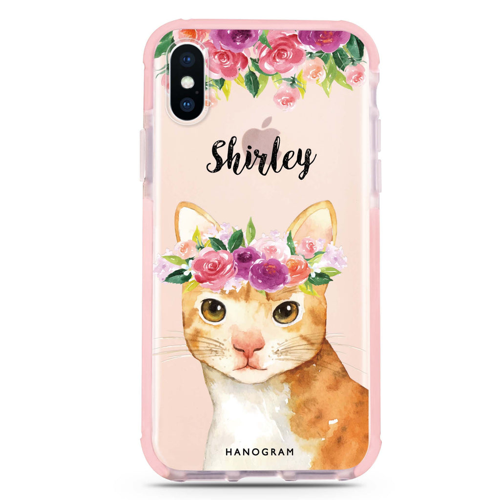 Floral and Cat iPhone XS Max 吸震防摔保護殼