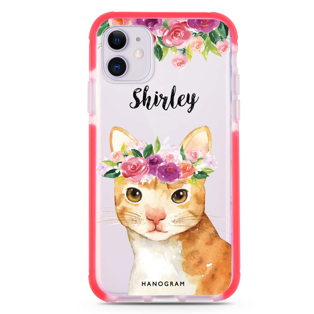 Floral and Cat iPhone 11 吸震防摔保護殼