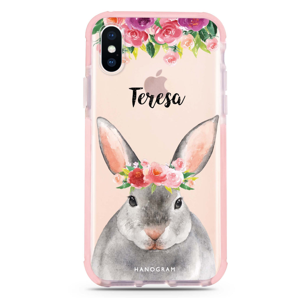 Floral and Bunny iPhone XS Max 吸震防摔保護殼