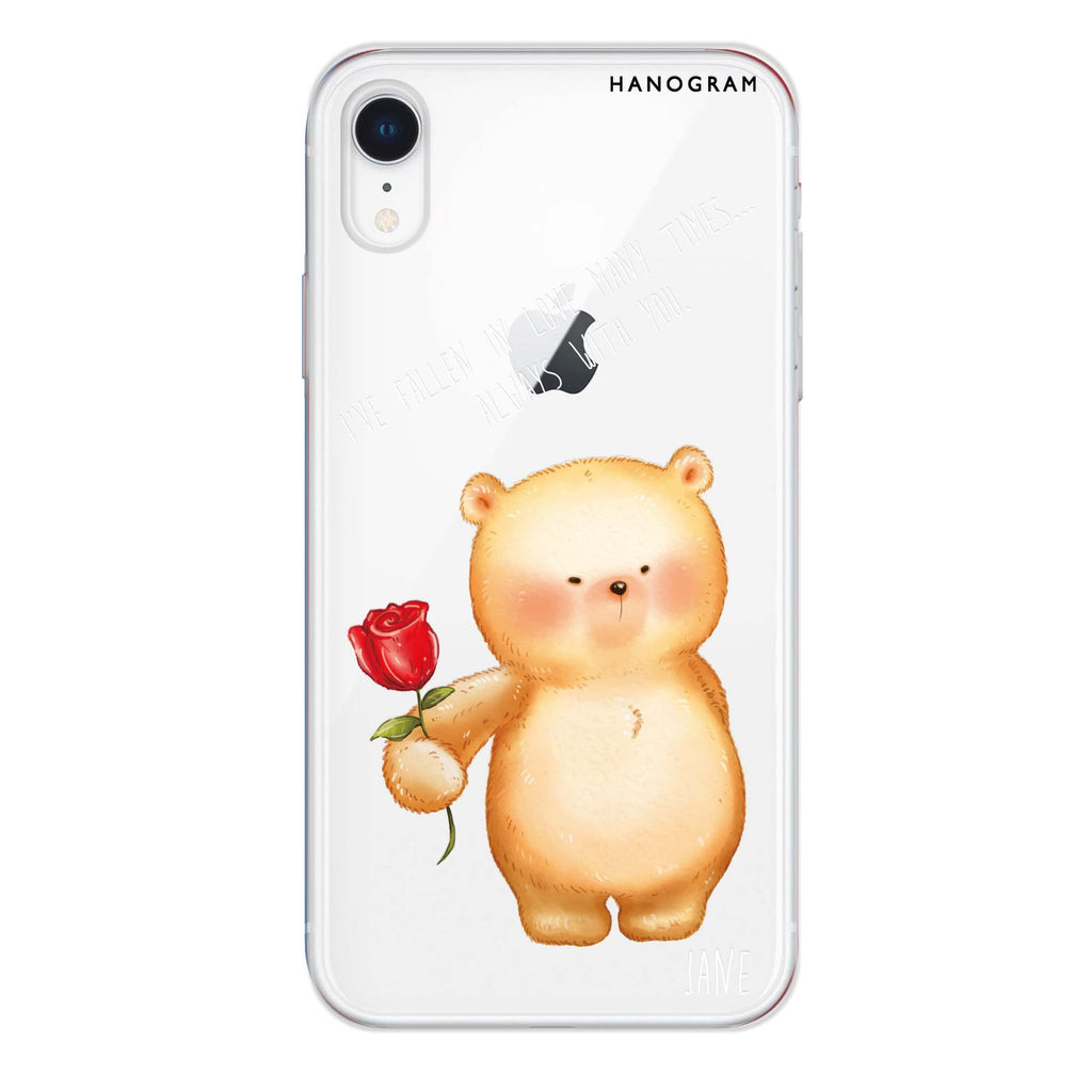 Rose For You iPhone XR 透明軟保護殻