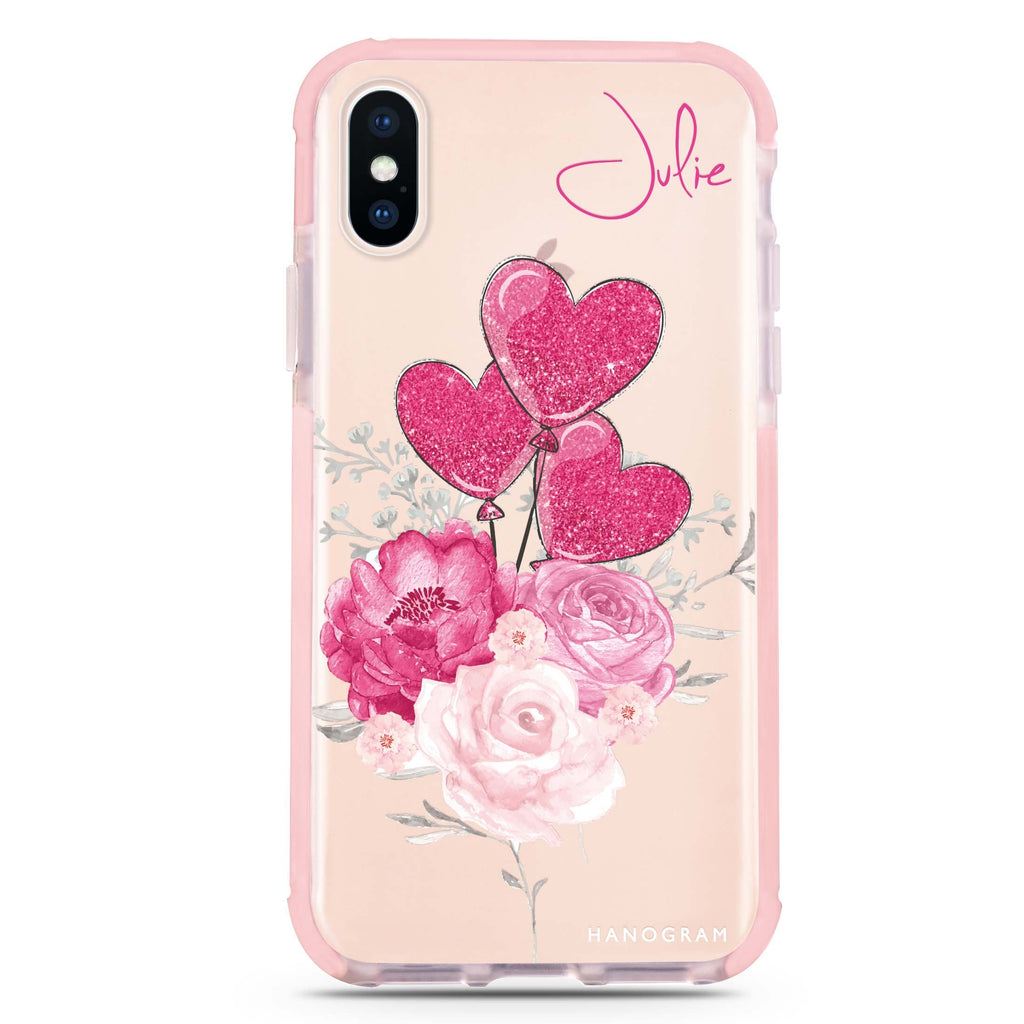 Sweet Heart With Rose iPhone XS Max 吸震防摔保護殼