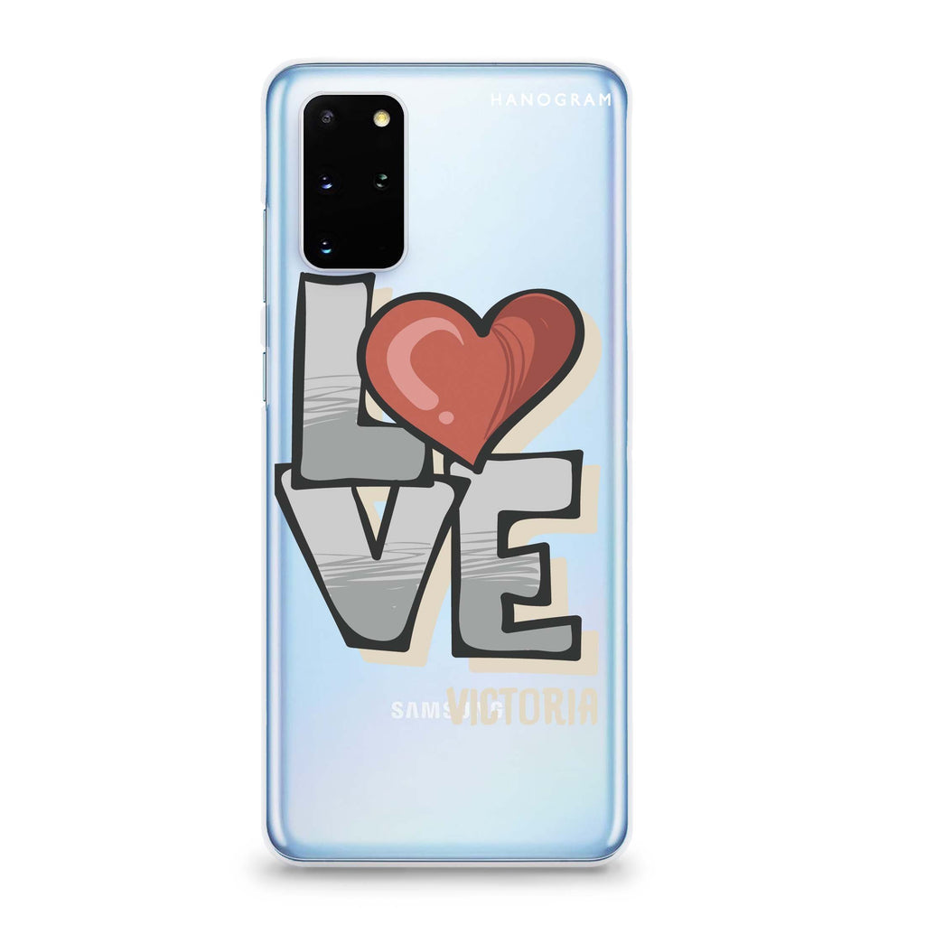 Cartoon Love Samsung S20 透明軟保護殻