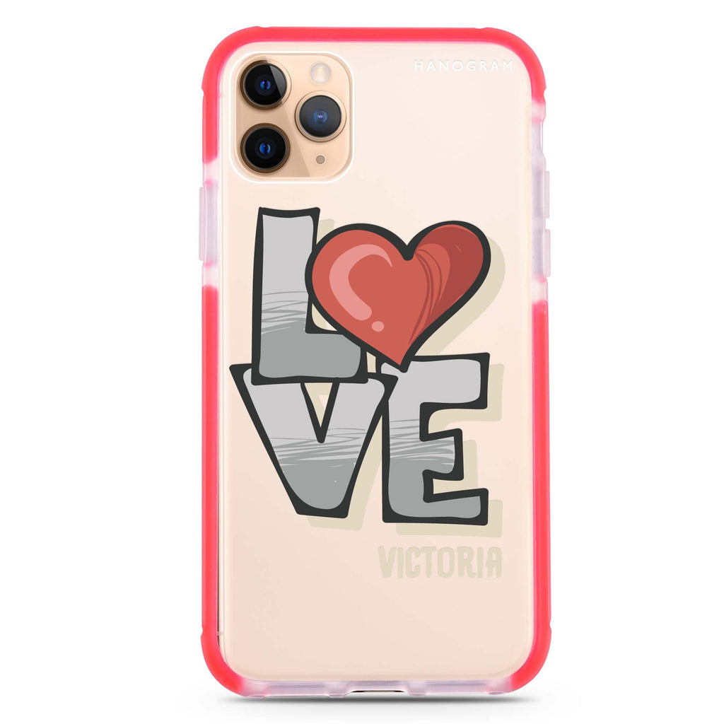 Cartoon Love iPhone 11 Pro Max 吸震防摔保護殼