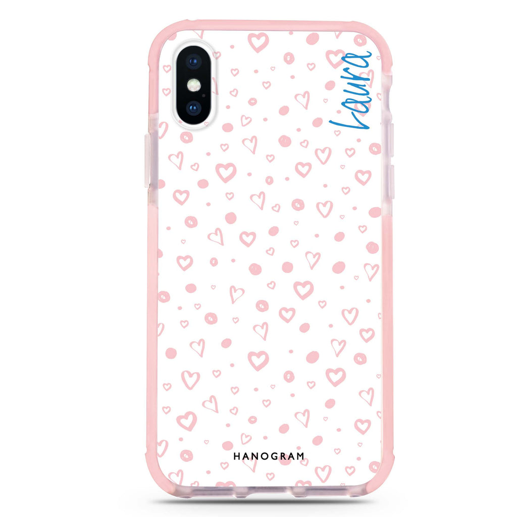 Pinky Hearts iPhone XS Max 吸震防摔保護殼