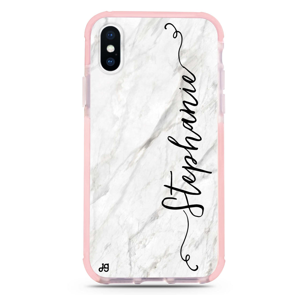 Vertical Cursive & Marble Sleek iPhone XS Max 吸震防摔保護殼