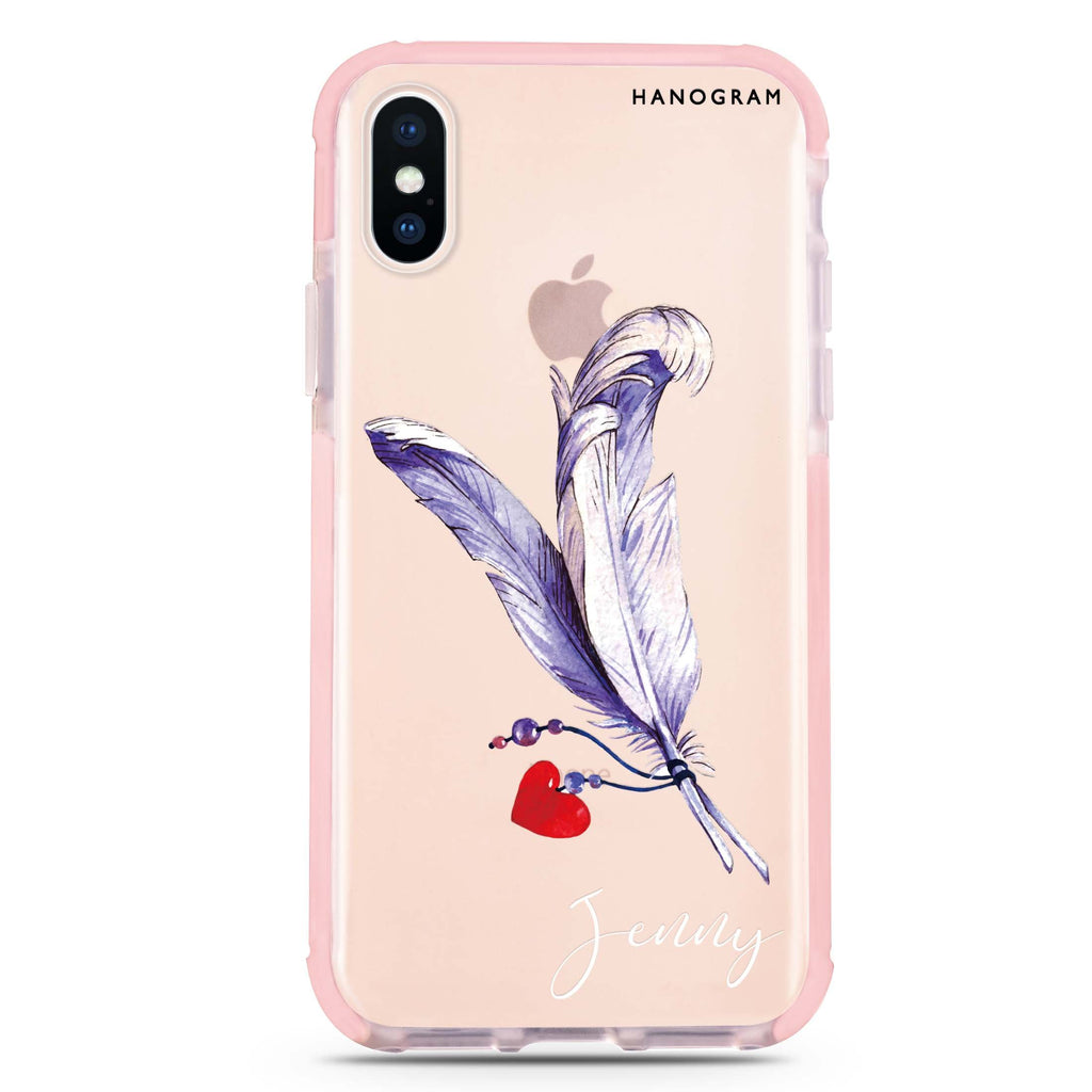 Feather Love iPhone XS Max 吸震防摔保護殼