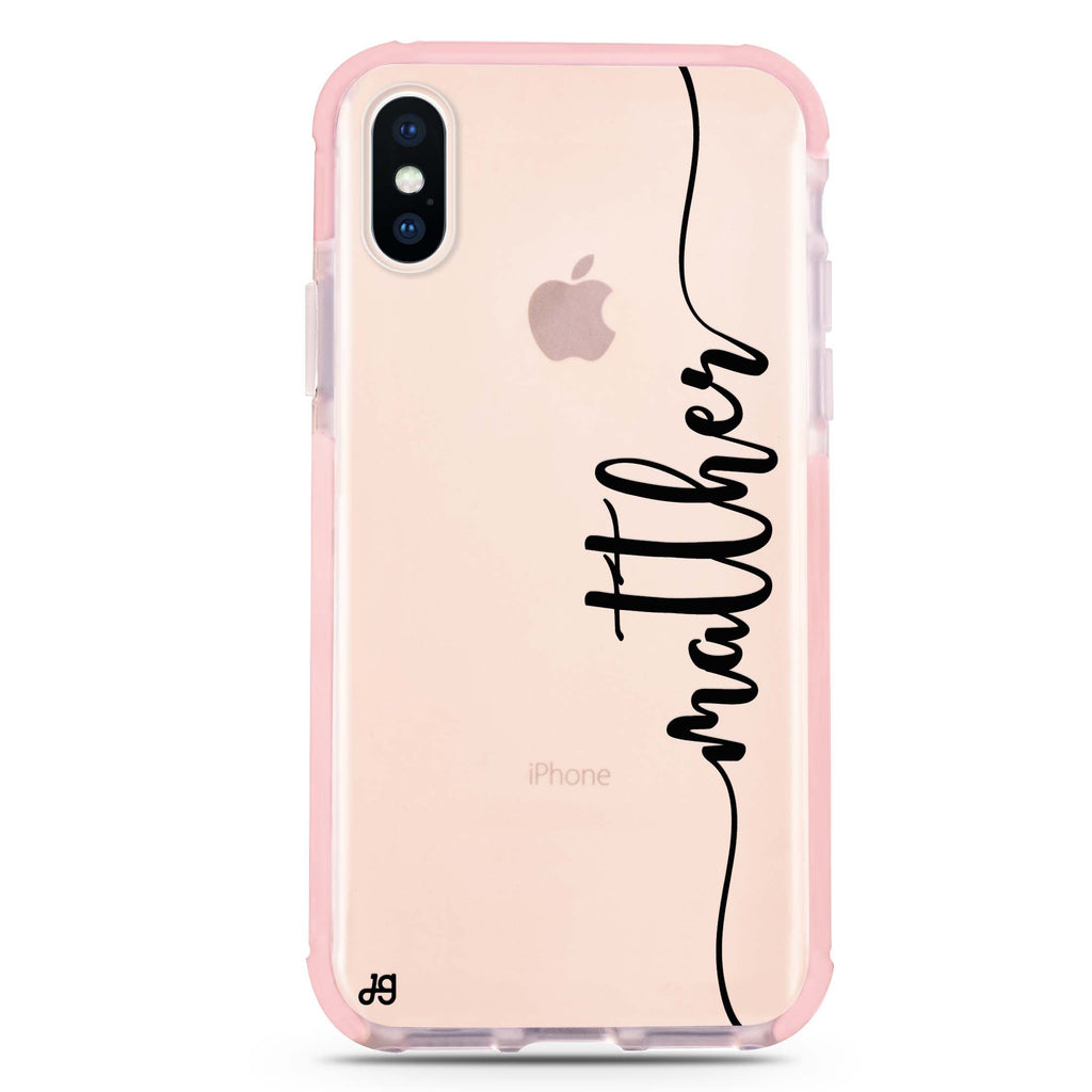 Vertical Script Handwritten Custom iPhone XS Max 吸震防摔保護殼