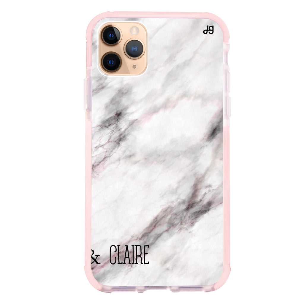 White Marble iPhone 11 Pro Max 吸震防摔保護殼
