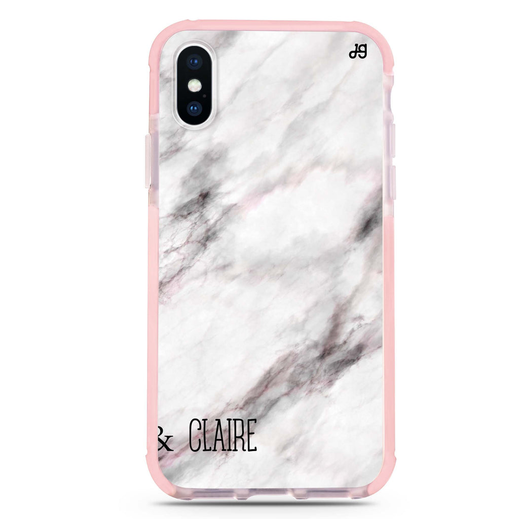 White Marble iPhone XS Max 吸震防摔保護殼