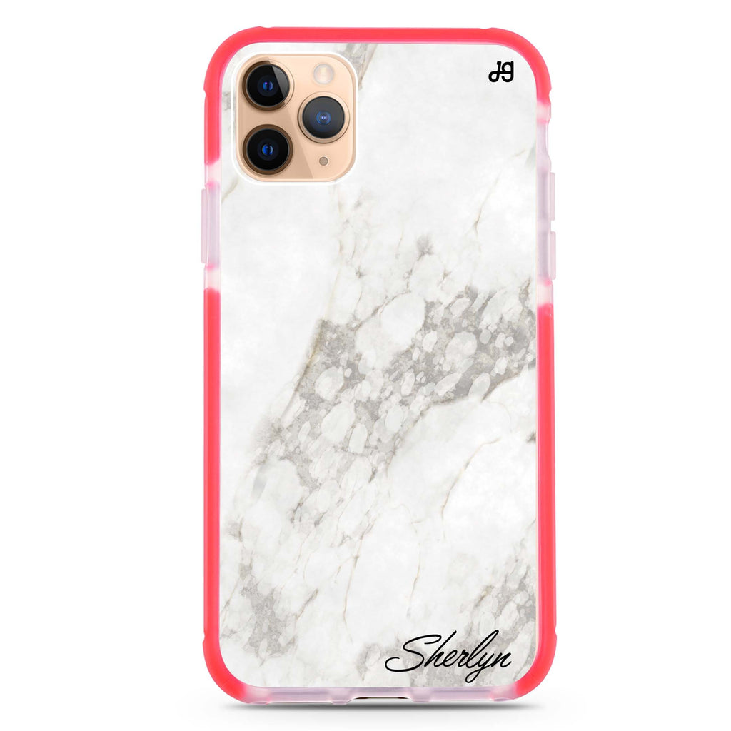 Simple White Marble iPhone 11 Pro Max 吸震防摔保護殼
