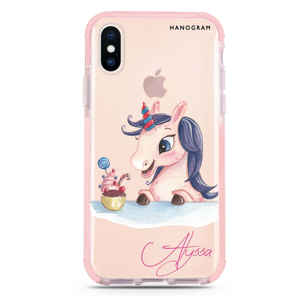 Rainbow Unicorn And Cupcake iPhone X 吸震防摔保護殼