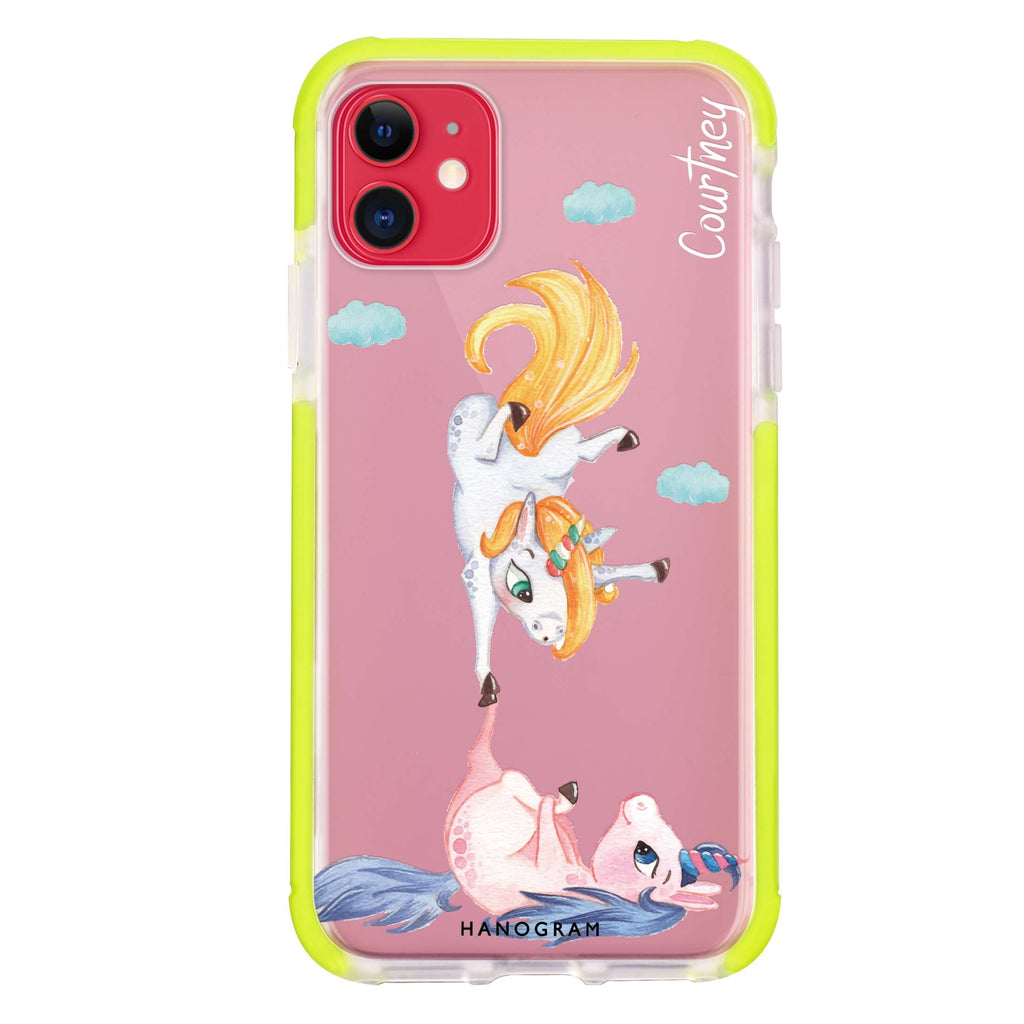 Rainbow Unicorn Dancing iPhone 11 吸震防摔保護殼