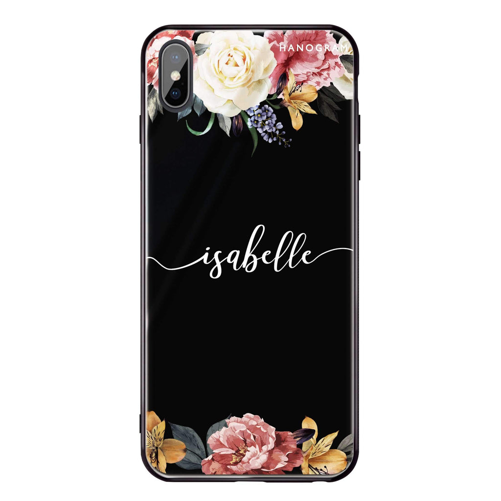 Art of Classic Floral iPhone XS 超薄強化玻璃殻