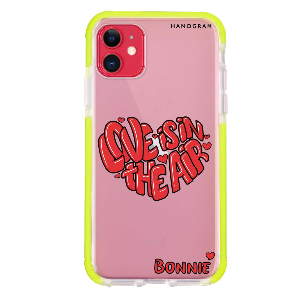 Red Word Heart iPhone 11 吸震防摔保護殼