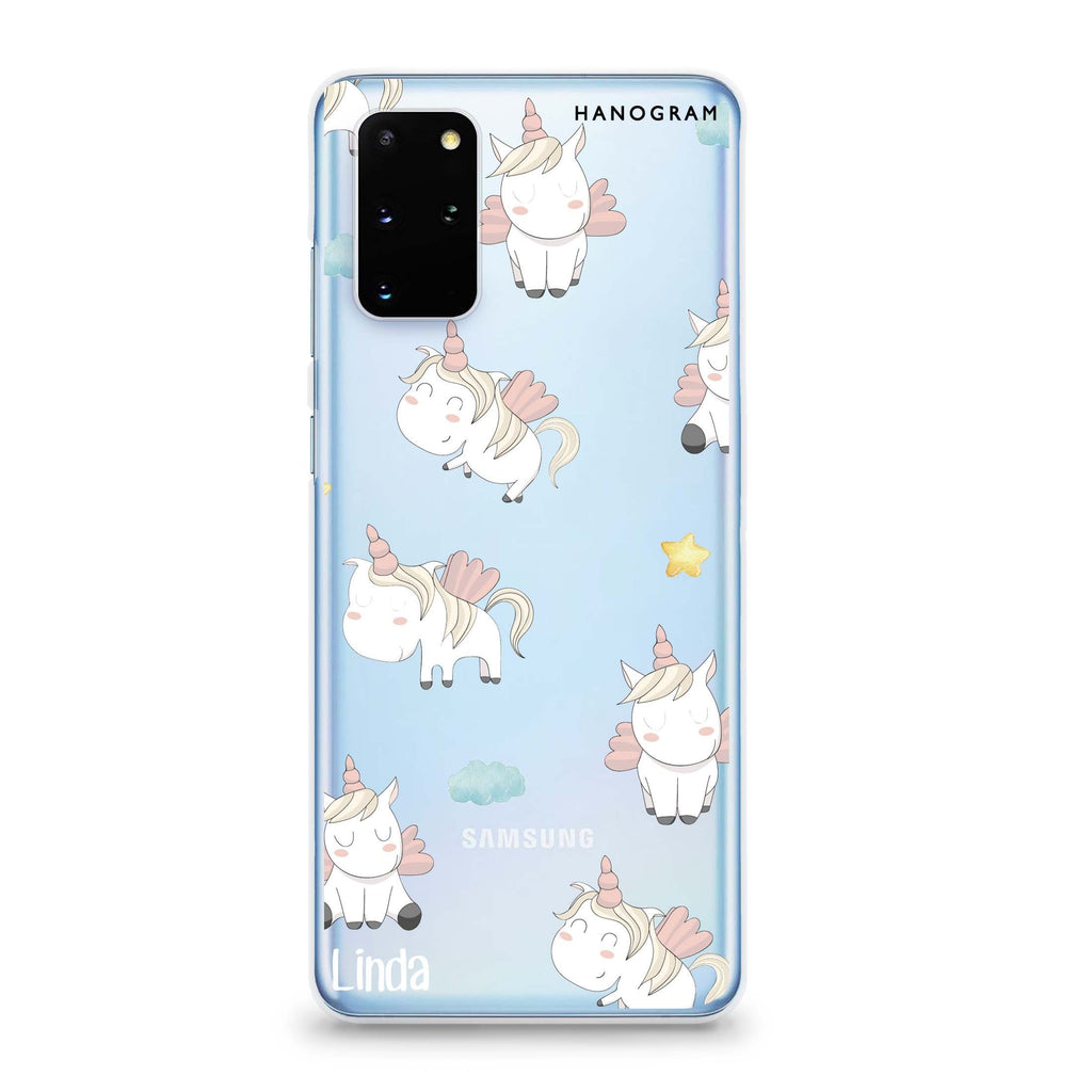 Baby Cute Unicorn Samsung S20 透明軟保護殻