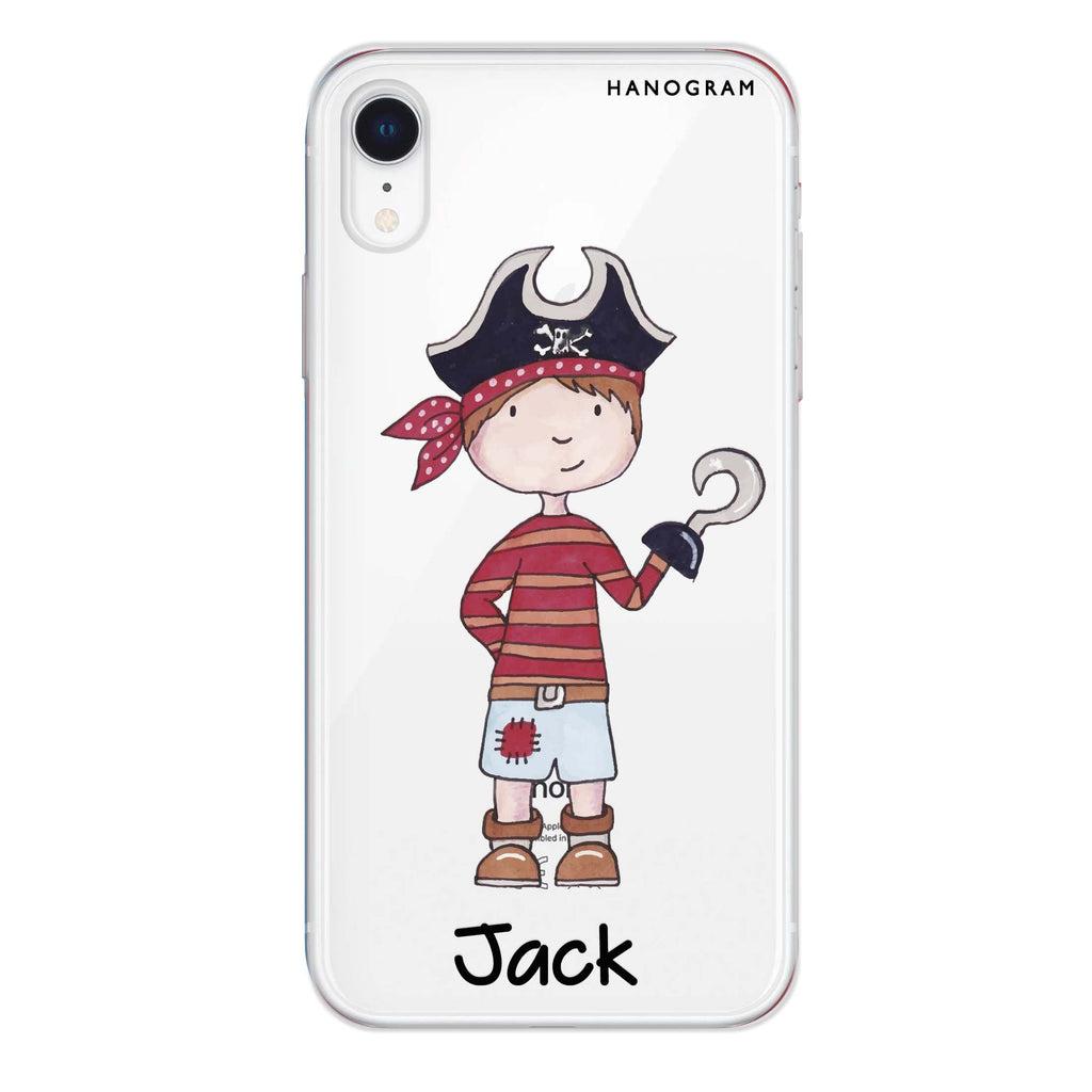 Little Pirate Boy iPhone XR 透明軟保護殻