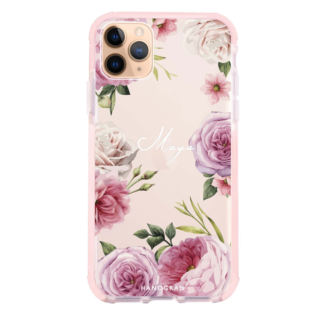 Beautiful Pretty Floral iPhone 11 Pro Max 吸震防摔保護殼