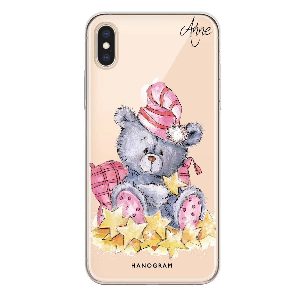Star Bear iPhone XS 透明軟保護殻