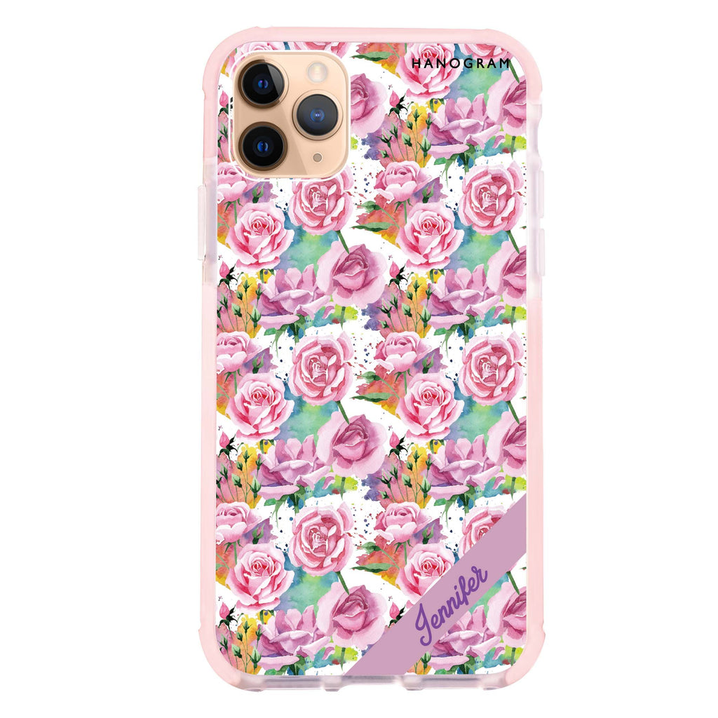 Colorful Rose iPhone 11 Pro Max 吸震防摔保護殼