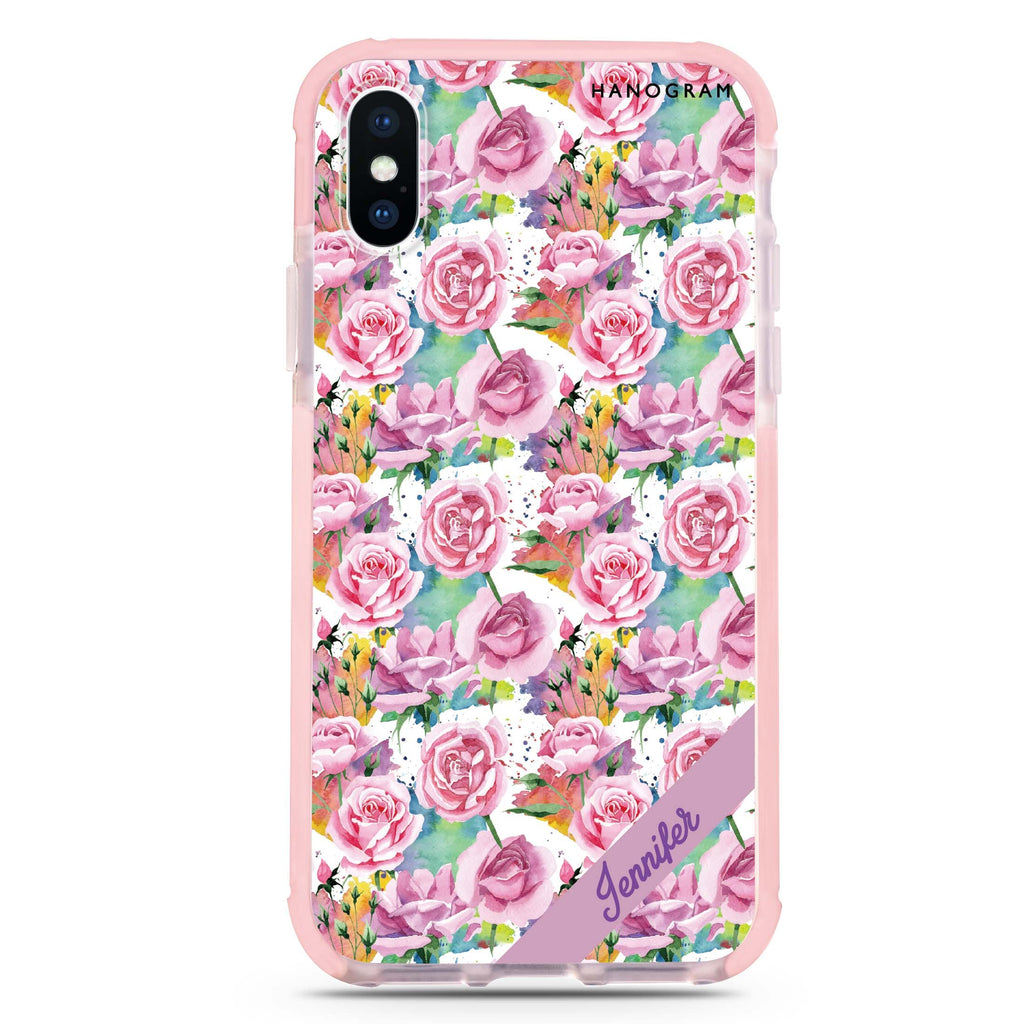Colorful Rose iPhone XS Max 吸震防摔保護殼