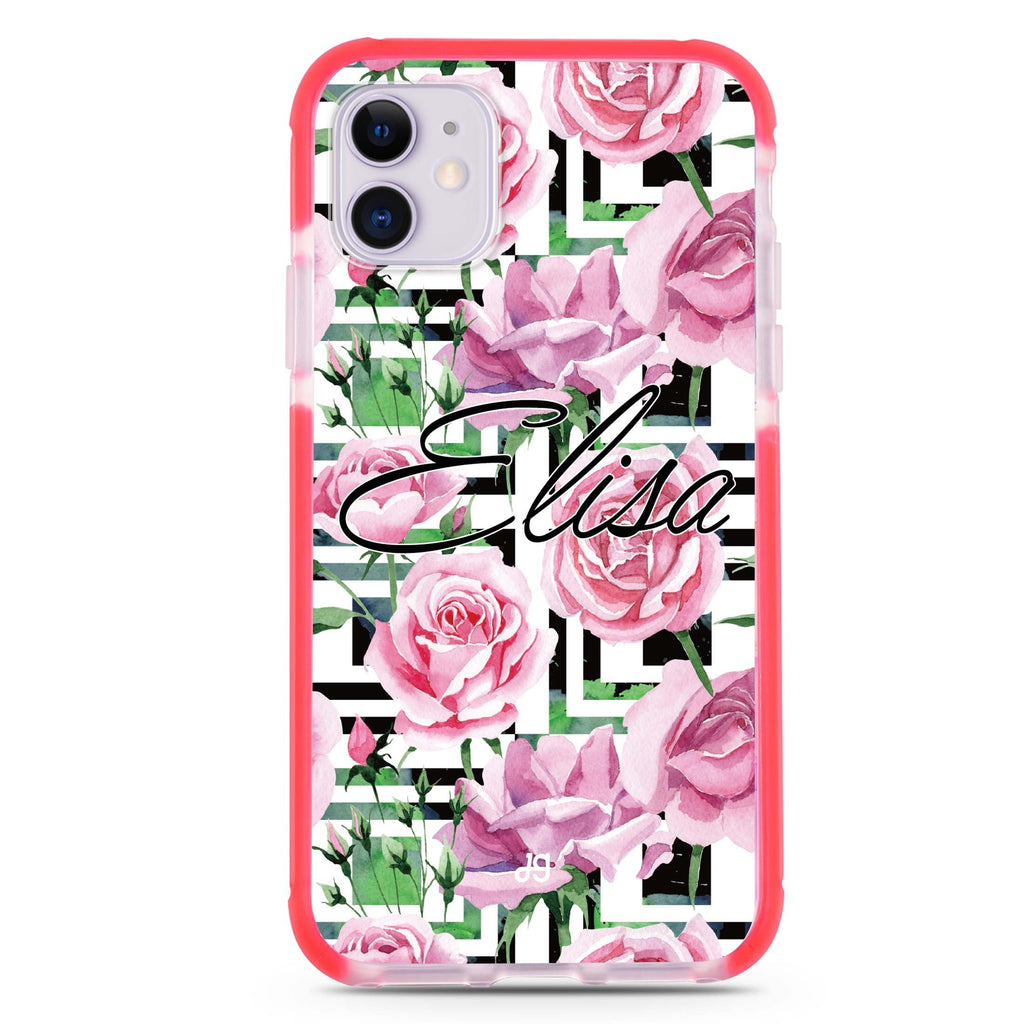 Rose Checkered iPhone 11 吸震防摔保護殼