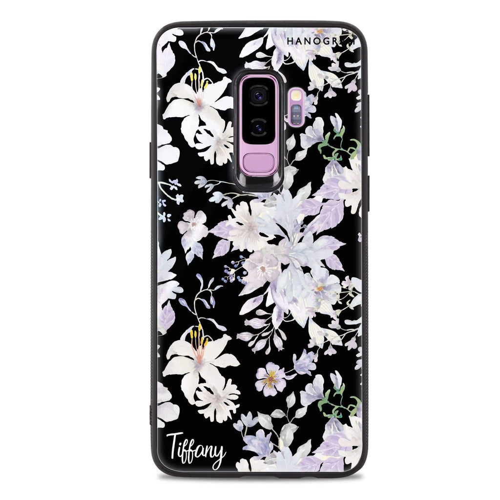 Serene Flowers Pattern Samsung S9 Plus 超薄強化玻璃殻