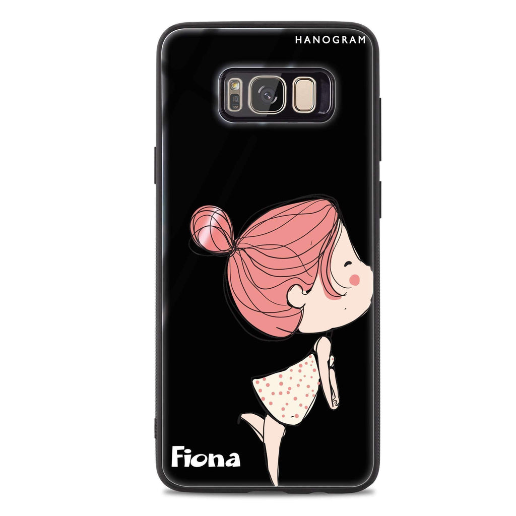 Cute girl kissing Samsung S8 Plus 超薄強化玻璃殻