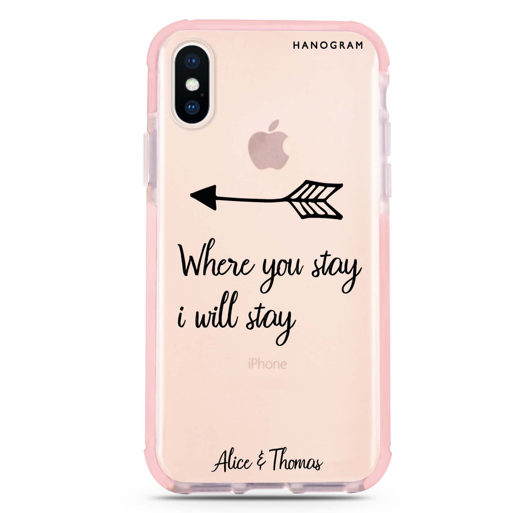 Always love together iPhone XS Max 吸震防摔保護殼