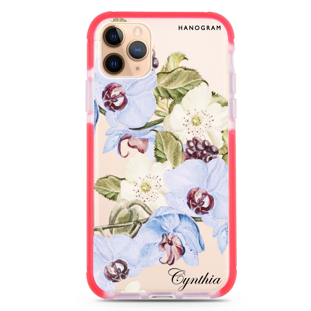 Light Blue Floral iPhone 11 Pro 吸震防摔保護殼
