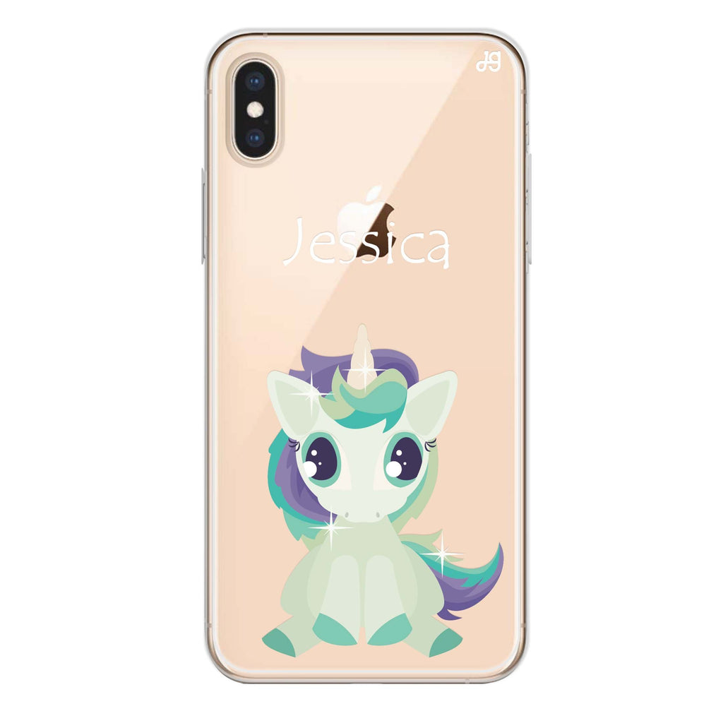 Pretty Eyes Unicorn iPhone X 透明軟保護殻