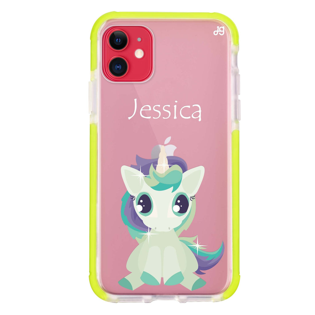 Pretty Eyes Unicorn iPhone 11 吸震防摔保護殼