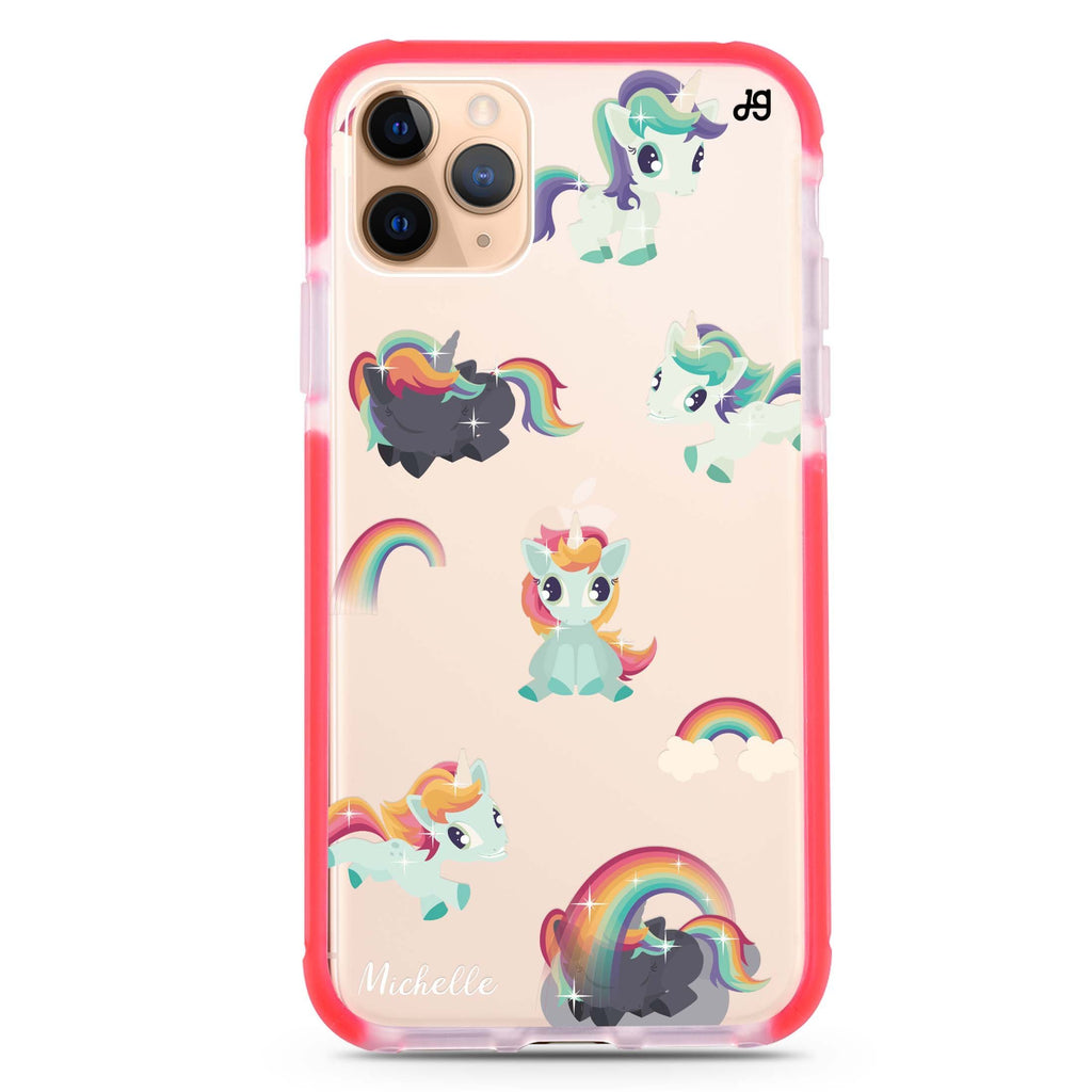 Unicorn & Rainbow iPhone 11 Pro 吸震防摔保護殼