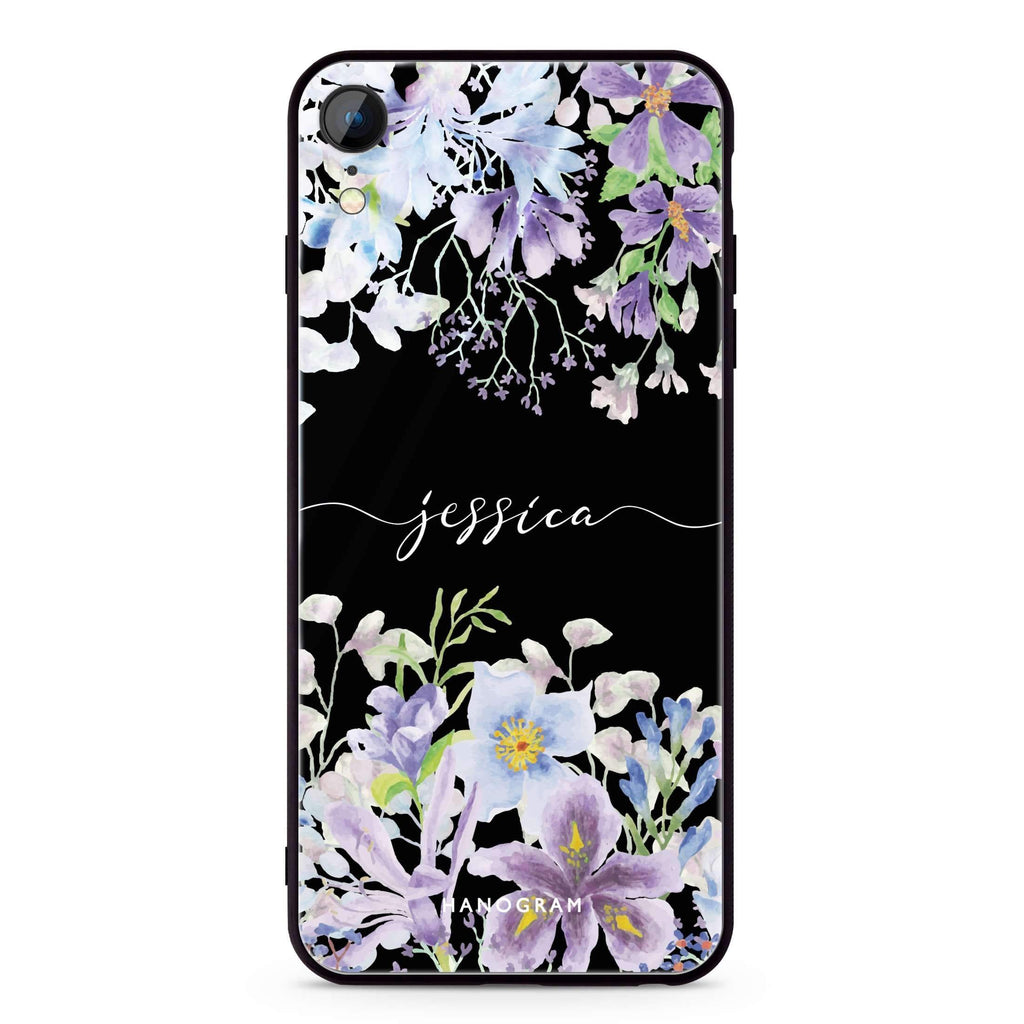 Flowers Bloom iPhone XR 超薄強化玻璃殻