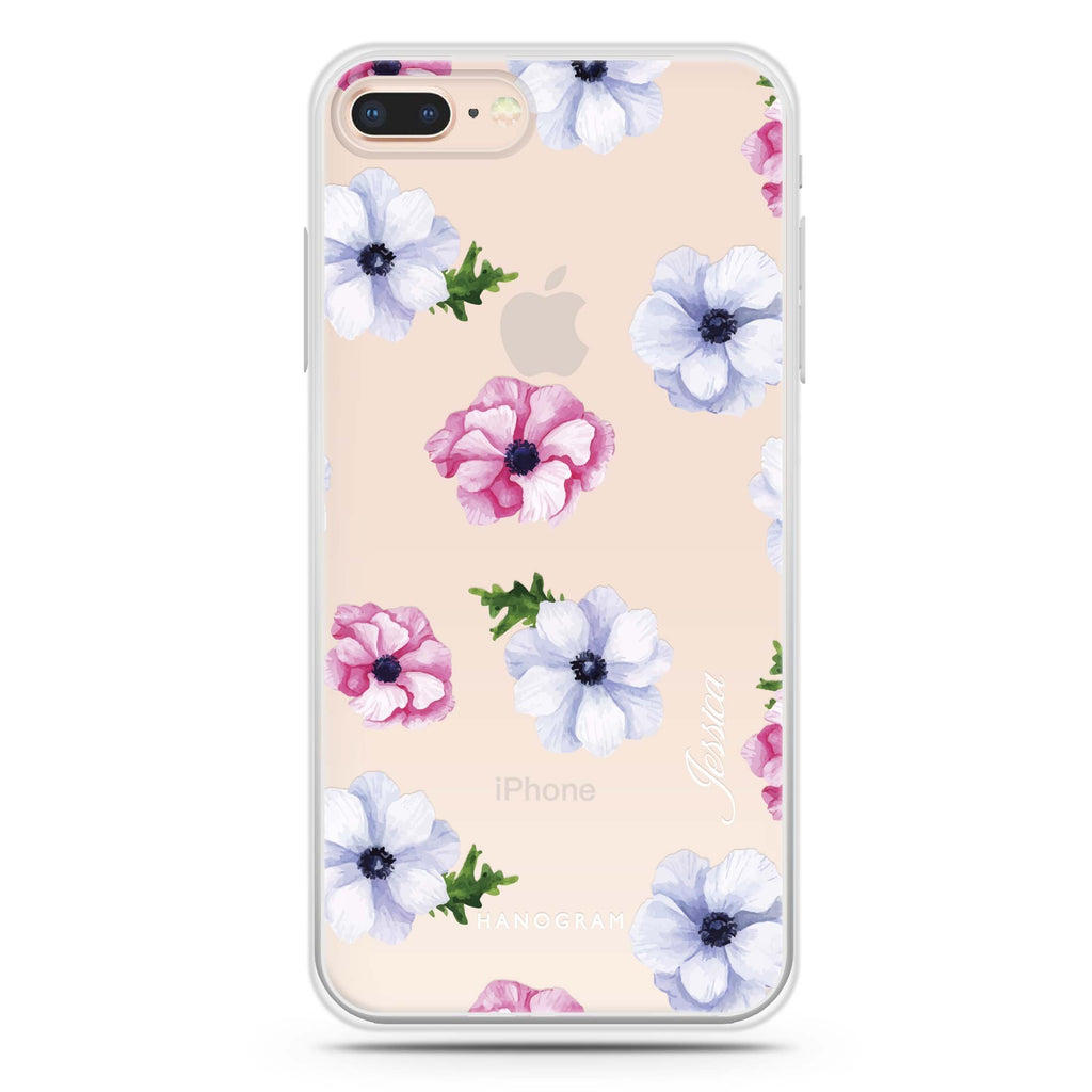 Ideal floral iPhone 8 Plus 透明軟保護殻