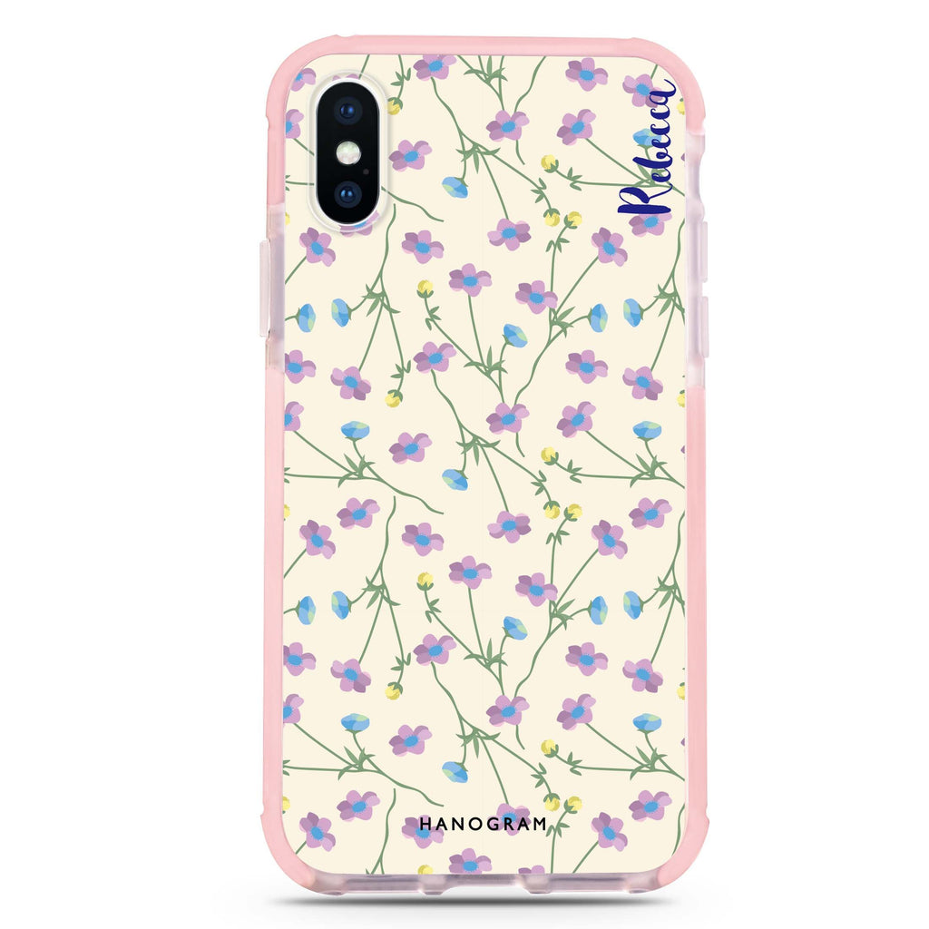 Girly floral iPhone XS Max 吸震防摔保護殼