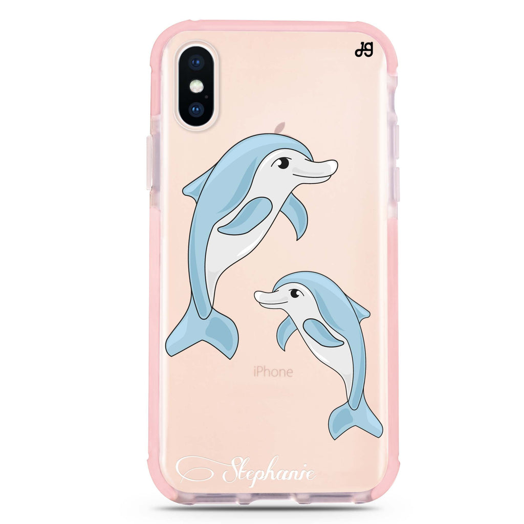 Twins dolphin iPhone XS Max 吸震防摔保護殼