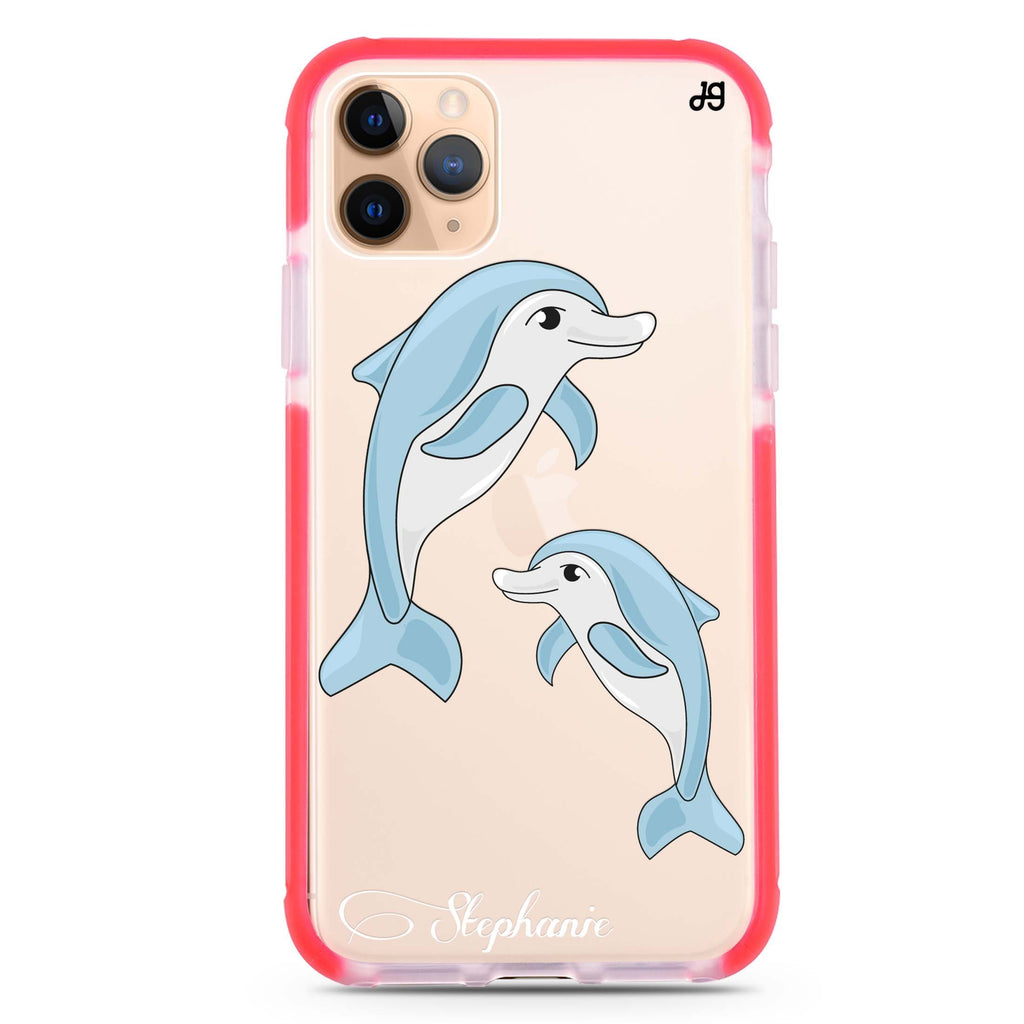Twins dolphin iPhone 11 Pro 吸震防摔保護殼