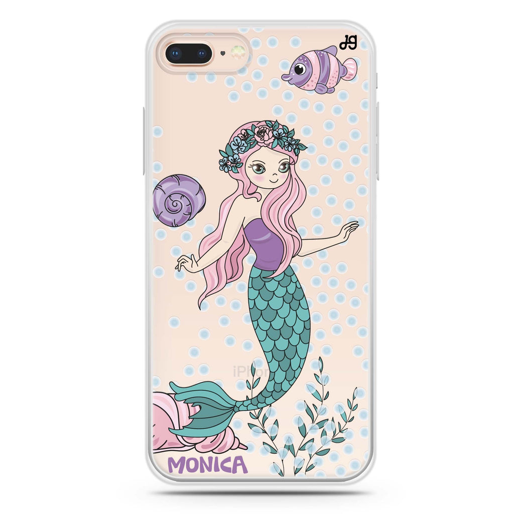 Mermaids iPhone 8 Plus 透明軟保護殻