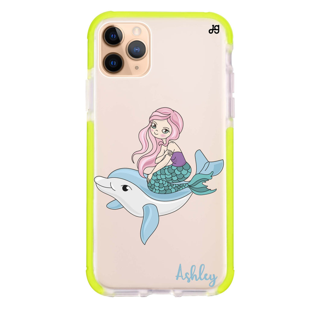 Dolphin with Mermaids iPhone 11 Pro Max 吸震防摔保護殼