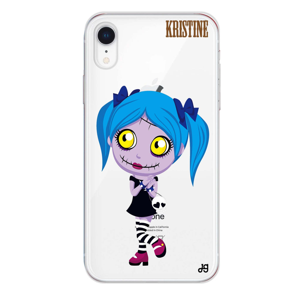 Zombie Love's girl iPhone XR 透明軟保護殻