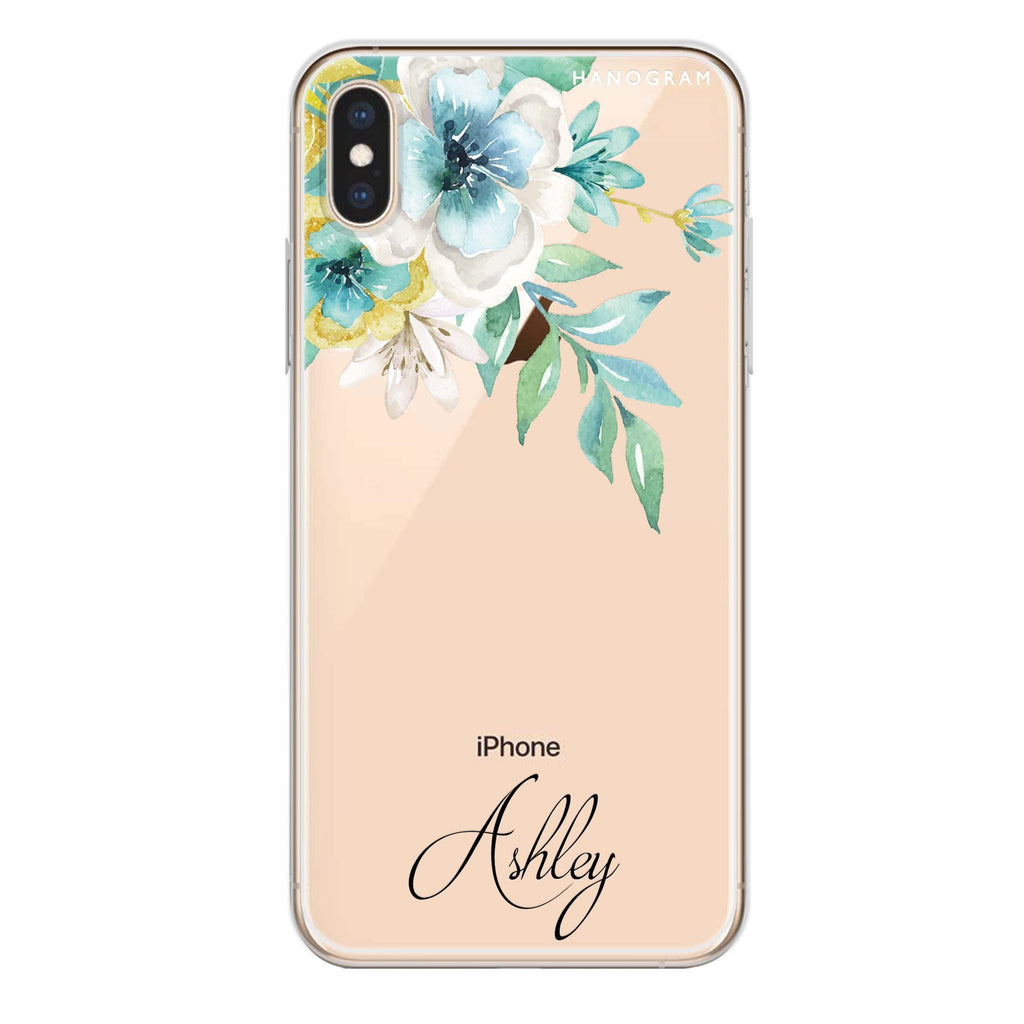 Pretty Floral iPhone XS 透明軟保護殻