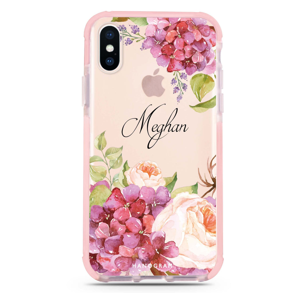 Pretty Floral iPhone XS Max 吸震防摔保護殼