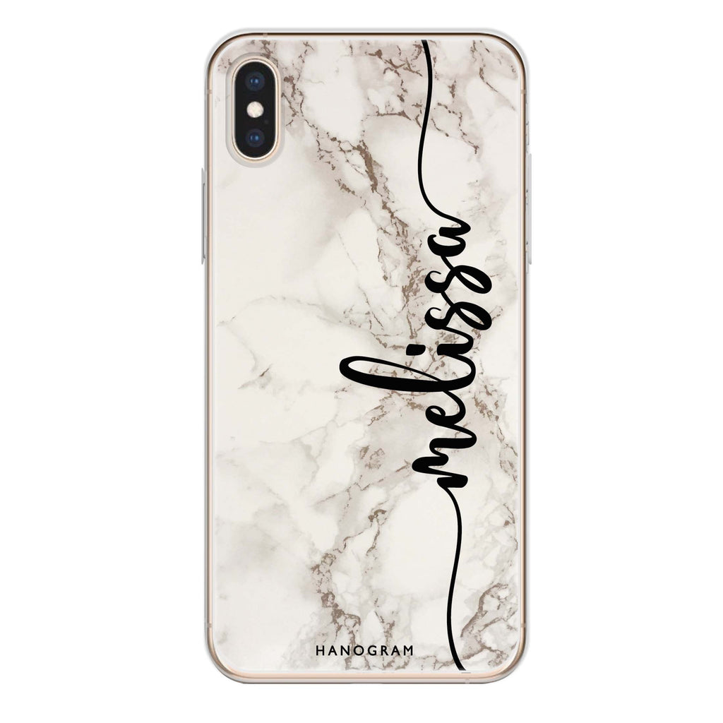 Marble Edition V iPhone XS 透明軟保護殻
